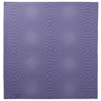 Überwundenes lila Sternexplosion-Muster Serviette
