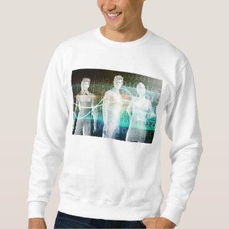 Überzeugtes erfolgreiches Geschäfts-Team stehend Sweatshirt