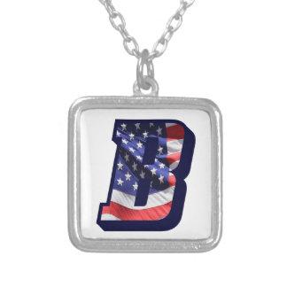 """Überzogene Halskette des Flagge-Buchstabe-""""B"""""""