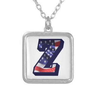 """Überzogene Halskette des Flagge-Buchstabe-""""Z"""""""