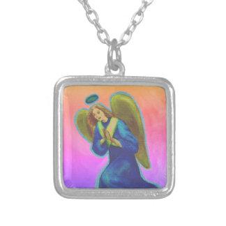 Überzogene Halskette Erzengel-Gabriels Silber -