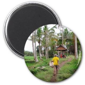 Ubud Bali Runder Magnet 5,1 Cm