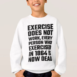 Übung arbeitet nicht sweatshirt