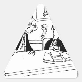 Übungs-Cartoon 5311 Dreieckiger Aufkleber
