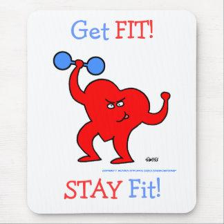 Übungs-Motivations-Herz Herz-Fitness-Motto Mauspads