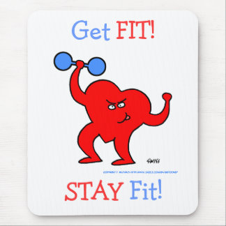 Übungs-Motivations-Herz Herz-Fitness-Motto Mousepad
