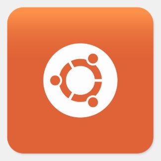 Ubuntu orange grdiant quadratischer aufkleber