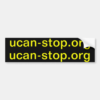 ucan-stop.org x2 autoaufkleber