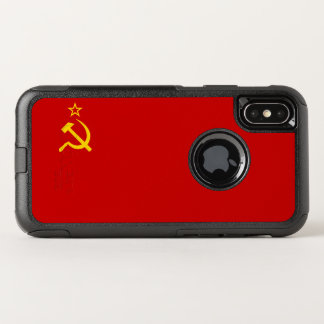 UDSSR-Flagge OtterBox Commuter iPhone X Hülle