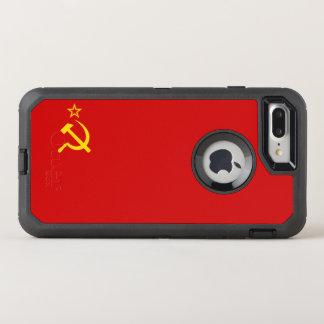 UDSSR-Flagge OtterBox Defender iPhone 8 Plus/7 Plus Hülle