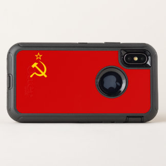 UDSSR-Flagge OtterBox Defender iPhone X Hülle