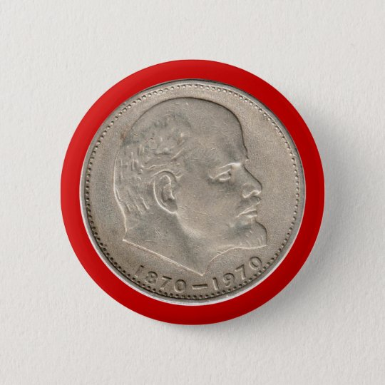 UdsSR Rußland Rubel USSR Russia Rouble Ruble Lenin Runder Button 5,1 Cm