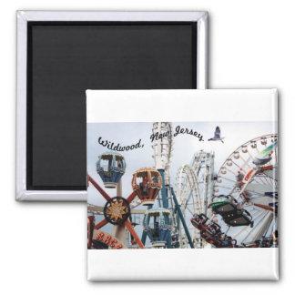 Ufer Pier-Wildwood Text-Quadrat-Magnet Quadratischer Magnet
