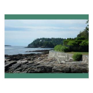 Ufer-Weg, Bar-Hafen, Maine-Postkarte Postkarte
