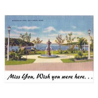 Ufergegend, Bar-Hafen, Maine Postkarte