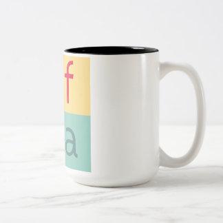 Uffizi KUNST Logo-Tasse Zweifarbige Tasse