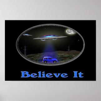 UFO-Abduktionsplakat Poster