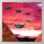 UFO-Fliege in der Bildung durch Valxart Posterdrucke