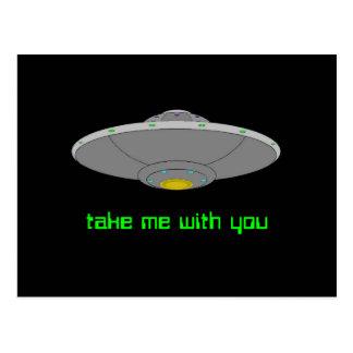 UFO - Freiwillige Abduktion Postkarte