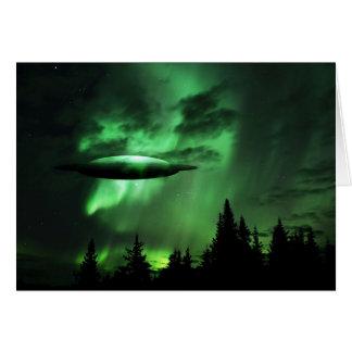 UFO in den grünen Wolken Karte