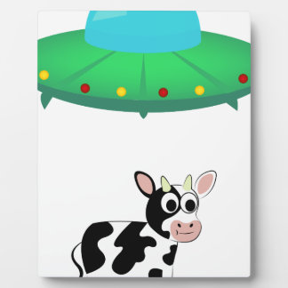 UFO-Kuh-Abduktions-Entwurf Fotoplatte