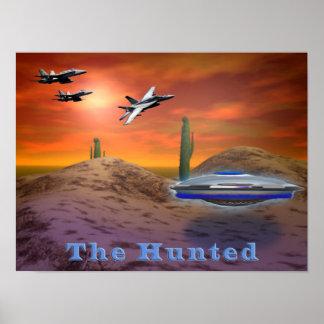 UFO-Nachtisch Poster