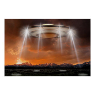 UFO Poster - Arriving