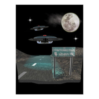 UFO-Produkte Poster