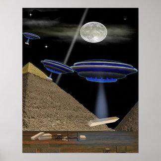 UFO-Pyramide Erbauer Poster