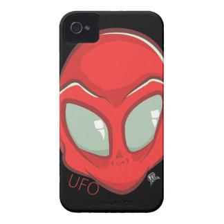 UFO-roter galaktischer Marsalien-Kopf iPhone 4 Case-Mate Hülle