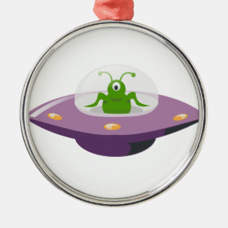 UFO SILBERNES ORNAMENT