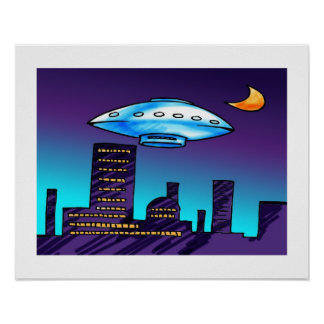 UFO-Stadt Poster