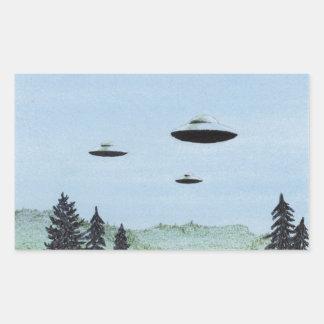UFO-Trio Rechteckiger Aufkleber