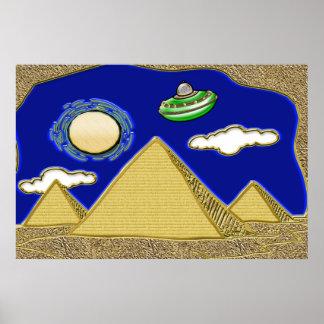 UFO über Ägypten Poster