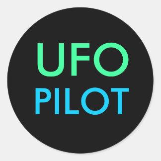 UFO-VERSUCHSaufkleber Runde Sticker