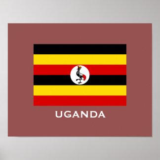 Uganda-Flaggen-klassisches Flaggen-Plakat Poster