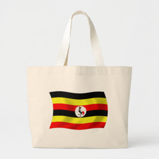 Uganda-Flaggen-Taschen-Tasche Jumbo Stoffbeutel