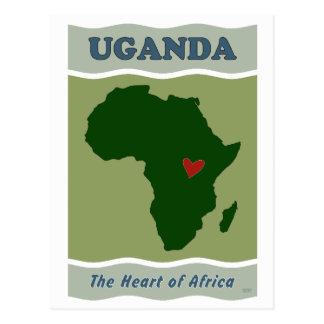 Uganda-Herz von Afrika Postkarte
