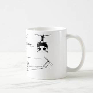 UH1 Huey Plan (Iriquois) Kaffeetasse