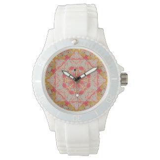 Uhr der Herbst-Helligkeits-Mandala-(Webartmuster)
