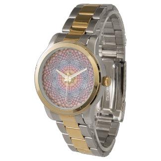 Uhr der Pastell-Vintages Kaleidoskop-die Vintage