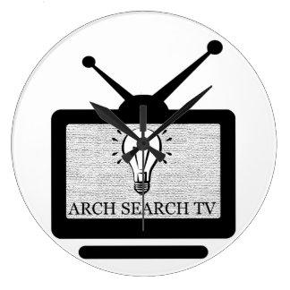 Uhr der Wand Arch Großer Search Runder Tv