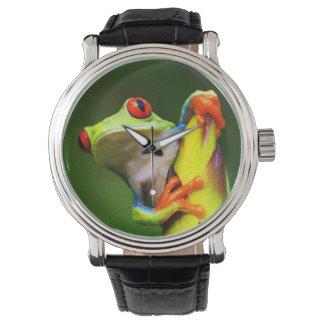 Uhr des Frosch-2 u. Ziffern-Wahlen