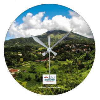 Uhr geschälter Berg von Martinique