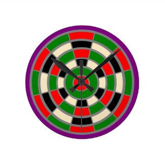 Uhr: Groß. Dartboard-Entwurf. Nicht nummeriert Runde Wanduhr