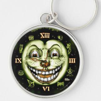 Uhr Halloween der schwarzen Katzen-13 Schlüsselanhänger