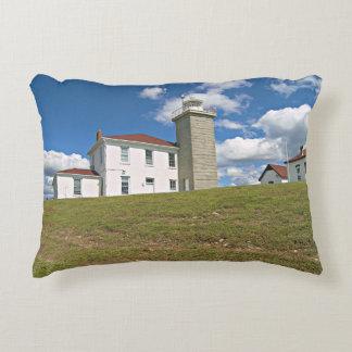 Uhr-Hügel-Leuchtturm, Rhode Island Akzent-Kissen Dekokissen