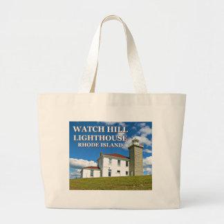 Uhr-Hügel-Leuchtturm, Rhode Island Taschen-Tasche Jumbo Stoffbeutel