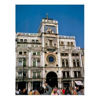 Uhr in St Mark Quadrat, Venedig Postkarten