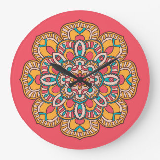 Uhr mit Mandala-Blumenmuster-Druck